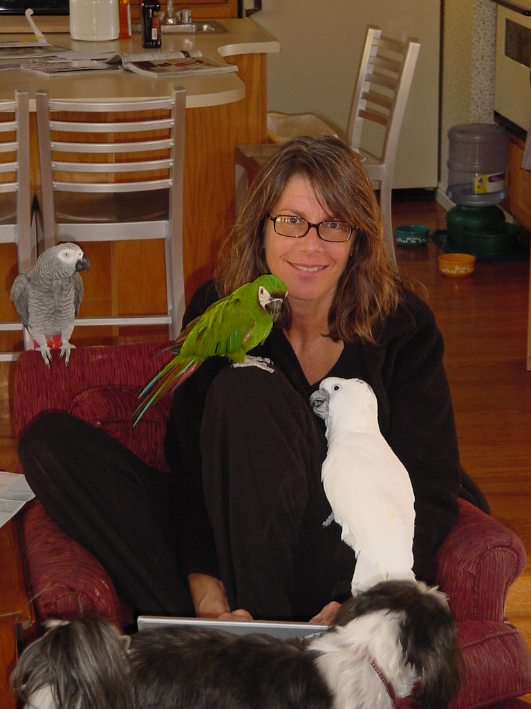 Susan and birds 2